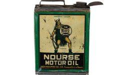 Nourse vintage motor oil can